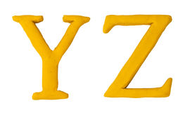 Knetmassebuchstaben. Lizenzfreies Stockfoto