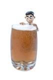 Knetmassemann mit Bier Lizenzfreie Stockbilder