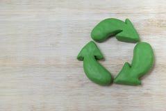 Knetmasserecycling-symbol Lizenzfreies Stockfoto