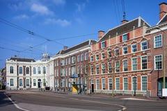 Kneuterdijk街在小室Haag 库存照片
