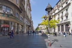 Knez Mihaila street Stock Photos