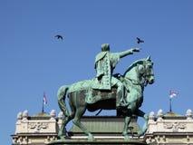 Knez Mihailo的纪念碑 免版税库存照片