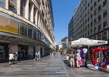 Knez Mihailova街道 库存图片
