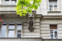Knez mihailova on the street,historical building cross sections. royalty free stock photo