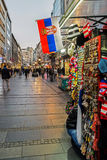 Knez Mihailova street, a pedestrian zone and shopping center in Stock Image