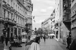Knez Mihajlova gata Arkivbild