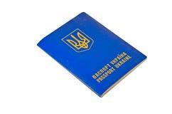 Kniaź cudzoziemski paszport odizolowywający na bielu fotografia royalty free