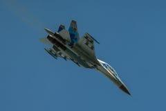 Kniaź SU-27 pokaz podczas Radomskiego pokazu lotniczego 2013 Zdjęcie Stock