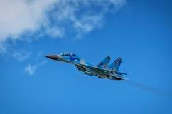 Kniaź SU-27 pokaz podczas Radomskiego pokazu lotniczego 2013 Zdjęcia Stock