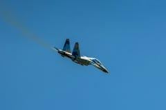 Kniaź SU-27 pokaz podczas Radomskiego pokazu lotniczego 2013 Obraz Royalty Free