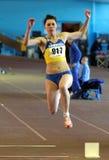 Kniazeva Anna wins the triple jump royalty free stock photography