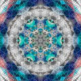 Knickentenpatchworkmandala, Kaleidoskop, Zusammenfassung, Blüte lizenzfreie abbildung
