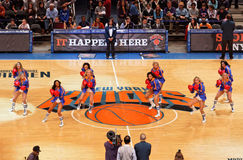 Knicks-Cheerleadern Stockbilder