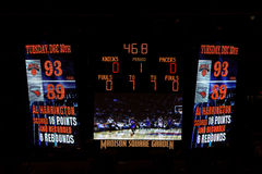 Knicks x Indiana Pacers Madison Square Garden lizenzfreies stockfoto