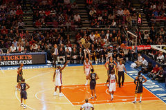 Knicks x Indiana Pacers Madison Square Garden Foto de archivo