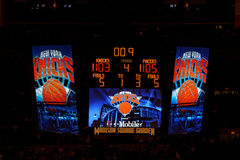 Knicks x Indiana Pacers Madison Square Garden Stock Photo