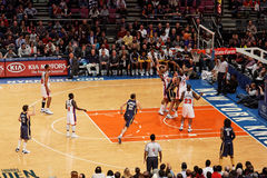 Knicks x Indiana Pacers Madison Square Garden Fotografia Stock Libera da Diritti