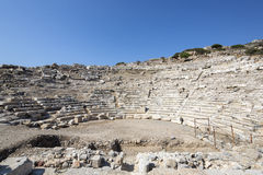 Knidos在Datca, Mugla Amphitheate  库存图片