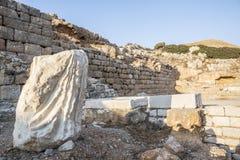 Knidos废墟在Mugla土耳其 免版税库存照片