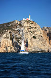 Knidos lighthouse at the south western point of Tu Royalty Free Stock Photos