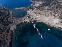 Knidos, Turkey aerial view Stock Photography