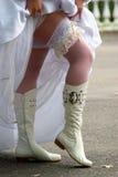Knie-laarzen Royalty-vrije Stock Foto's