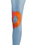 Knie met bandtherapie die wordt behandeld Royalty-vrije Stock Foto's