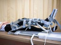 Kniecpm apparaat, Rehabilitatie na kniechirurgie royalty-vrije stock afbeeldingen