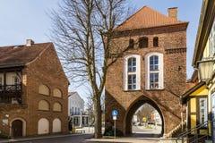 Kniepertor, Stralsund, Deutschland stockfotos
