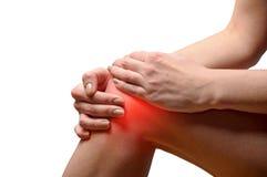 Kniepijn Stock Afbeelding