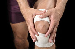 Knieverletzung Stockfotografie