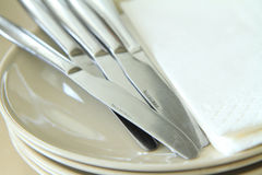 Knif et disque vide Images libres de droits