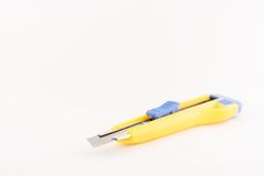 Knife. Yellow knife Royalty Free Stock Images