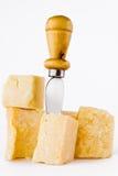 Knife And Parmesan Royalty Free Stock Photos