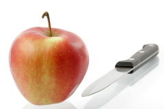 Knife and apple Royalty Free Stock Image