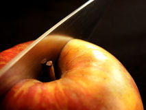 Knife and Apple Royalty Free Stock Photography