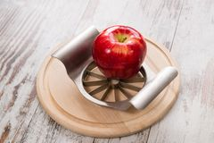 Knife and apple Stock Image