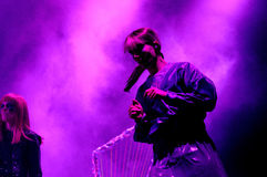 The Knife band, performs at Heineken Primavera Sound 2013 Festival Royalty Free Stock Photos