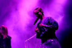 The Knife band, performs at Heineken Primavera Sound 2013 Festival royalty free stock photos