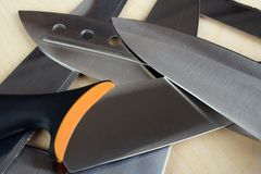 Knife blades Stock Photography