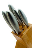 Knife Block Close Crop Stock Images