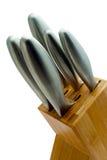 Knife Block Close Crop Stock Images