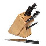 Knife Block Set Royalty Free Stock Image