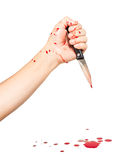 Knife and blood Stock Photo