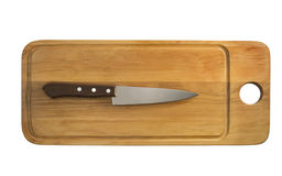 Knife on a board Stock Images