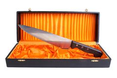 Knife in box Royalty Free Stock Image