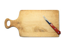 Knife On Breadboard Royalty Free Stock Photos