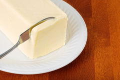 Knife in butter Royalty Free Stock Photography