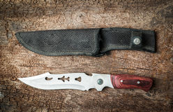 knife camping equipment Stock Image