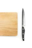 Knife and chopping board. Knife with wooden chopping board Royalty Free Stock Image